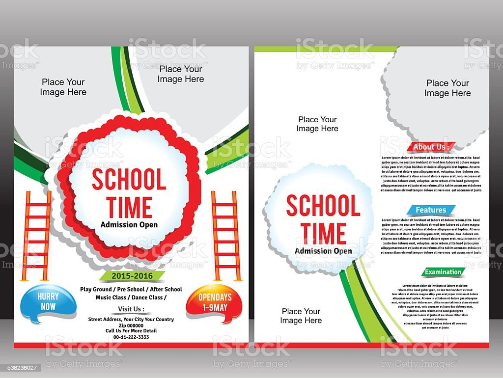 school admission flyer template stock vector art 538238027 istock 1 credit