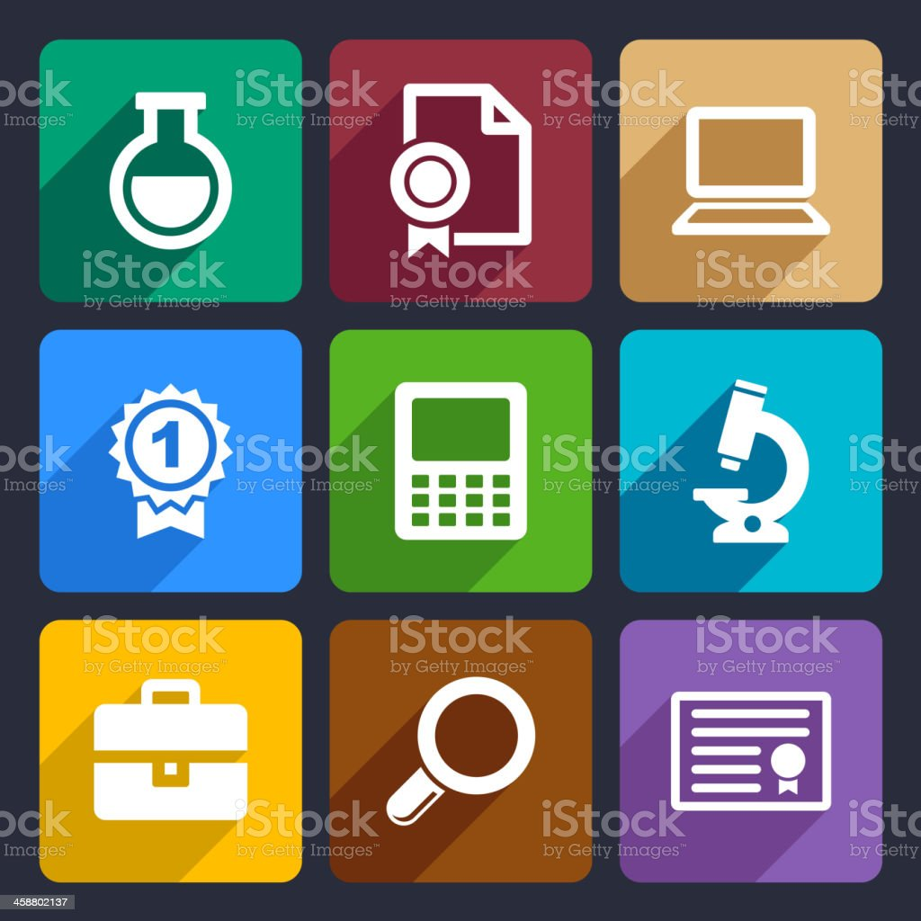 School and education flat icons set 26 royalty-free stock vector art