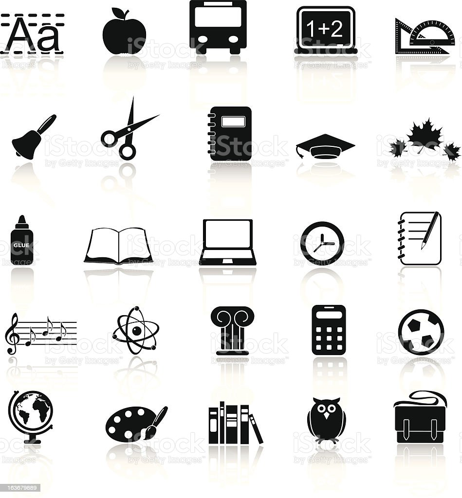 School and education icon set royalty-free stock vector art