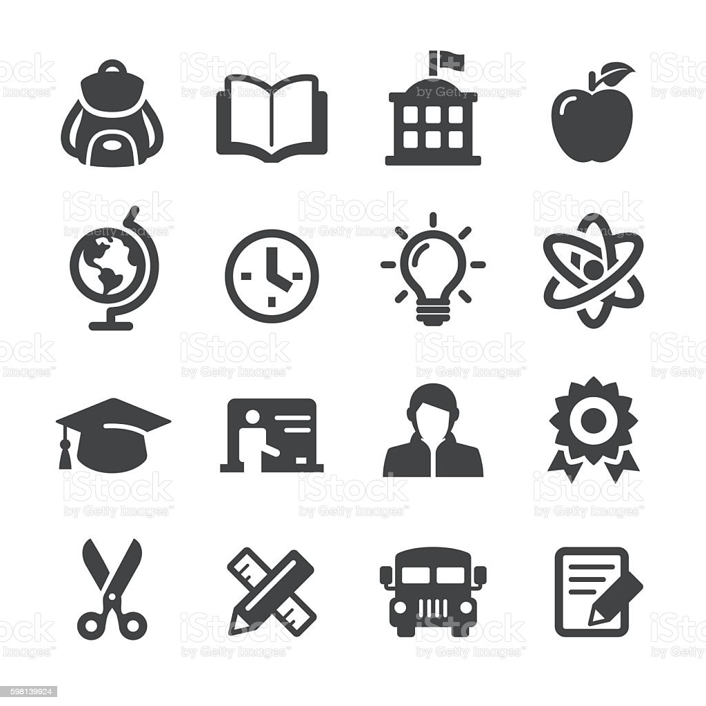School and Education Icons - Acme Series vector art illustration