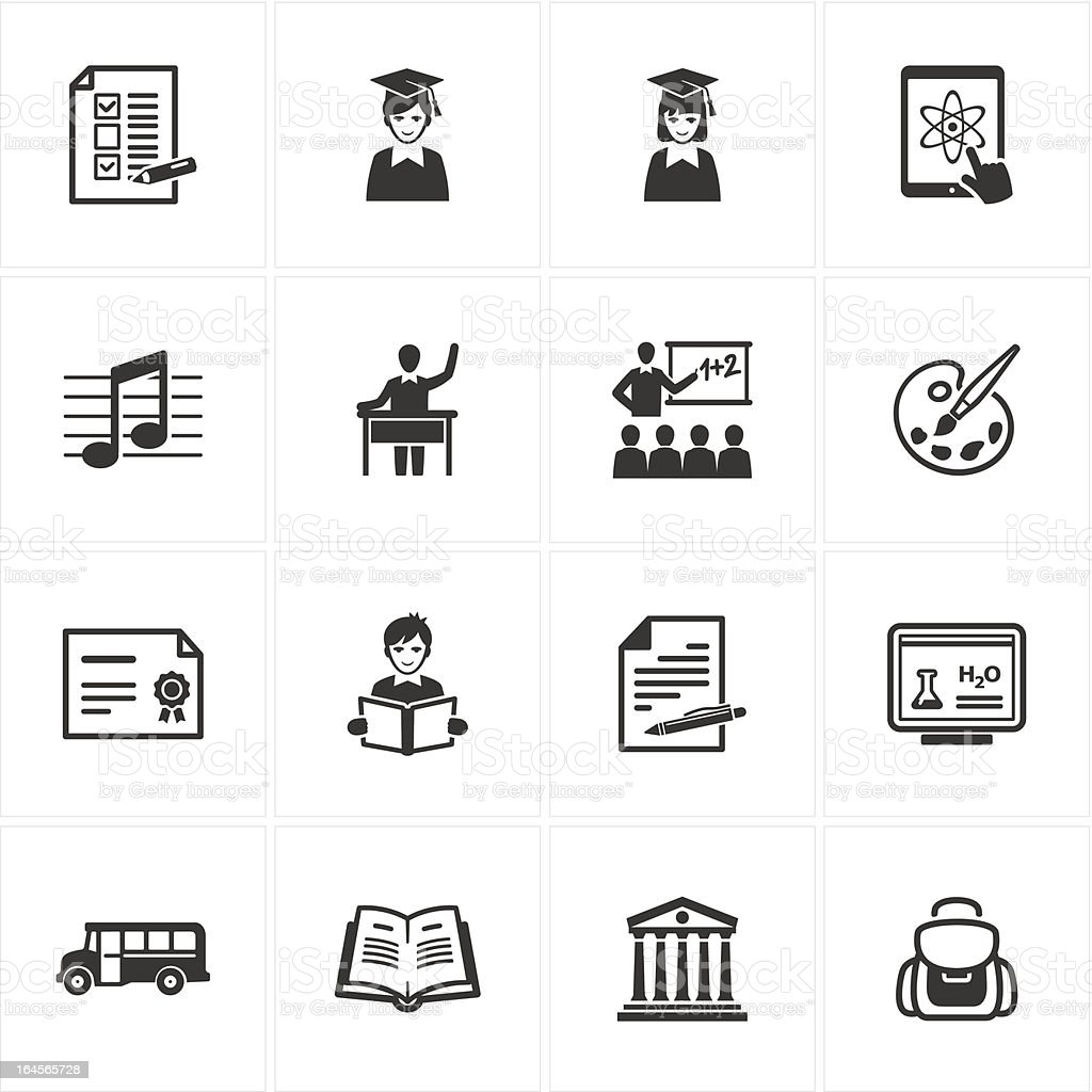 School and Education Icons - Set 2 royalty-free stock vector art