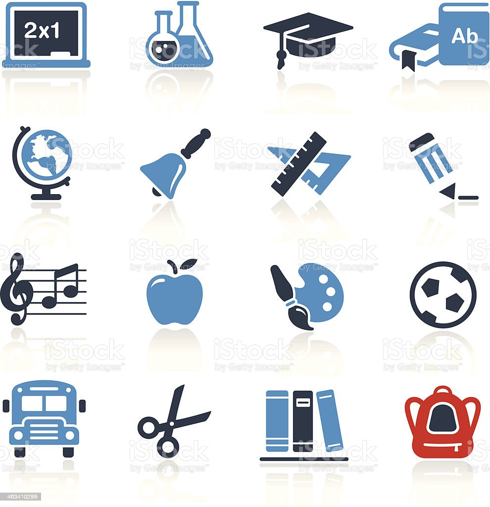 School and Education Icons Two Color | Pro Series vector art illustration