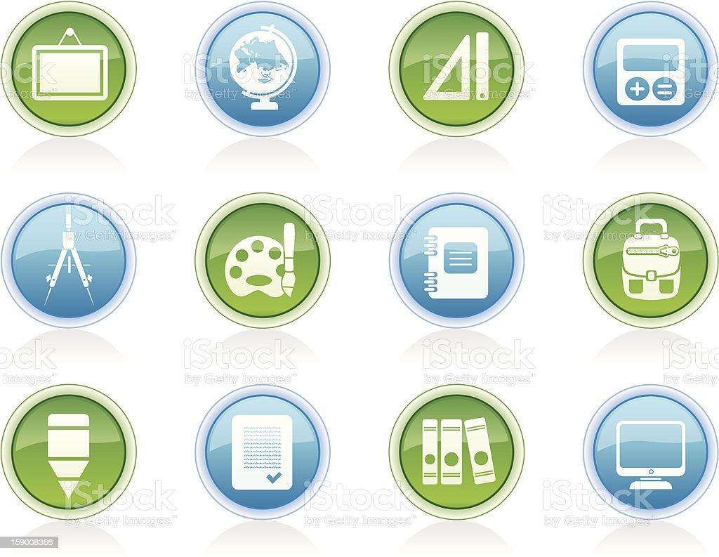 School and education icons royalty-free stock photo