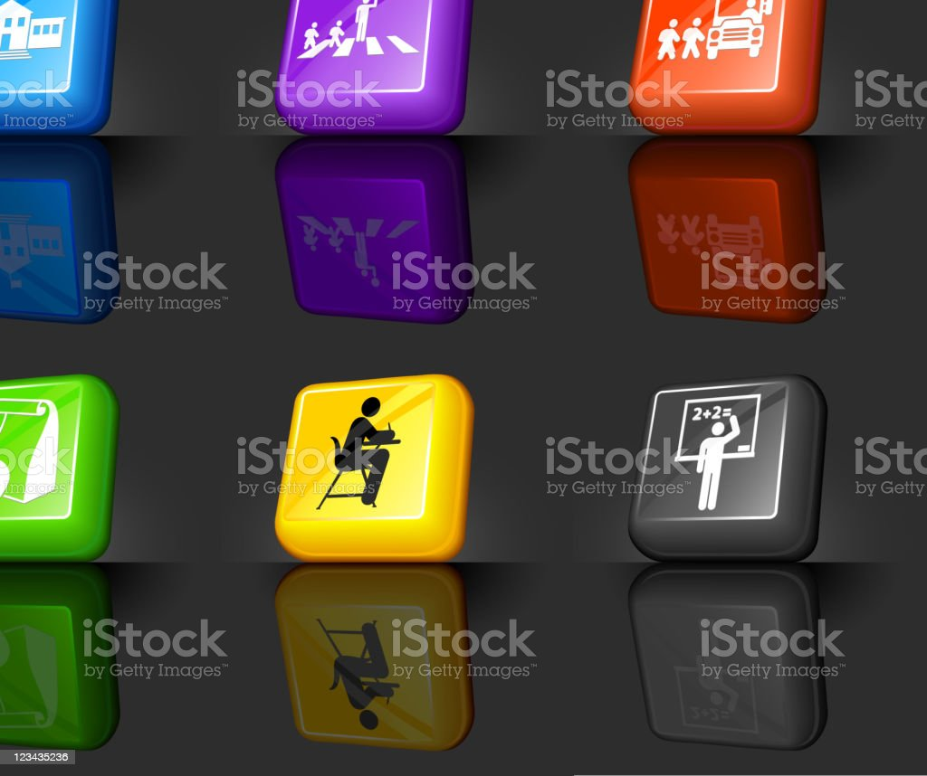 school and education internet royalty free vector icon set royalty-free stock vector art