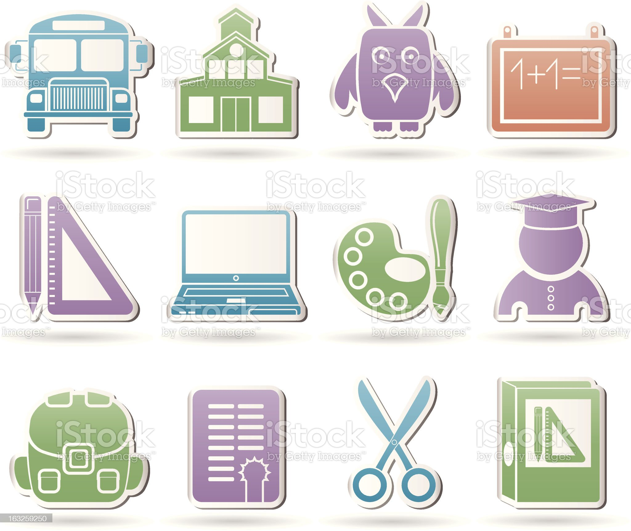 School and education objects royalty-free stock vector art