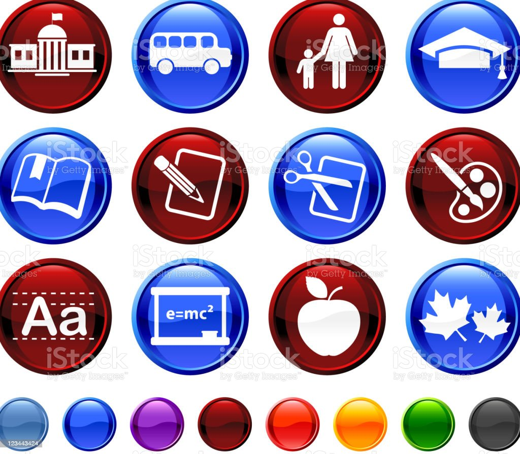 school and education royalty free vector icon set royalty-free stock vector art