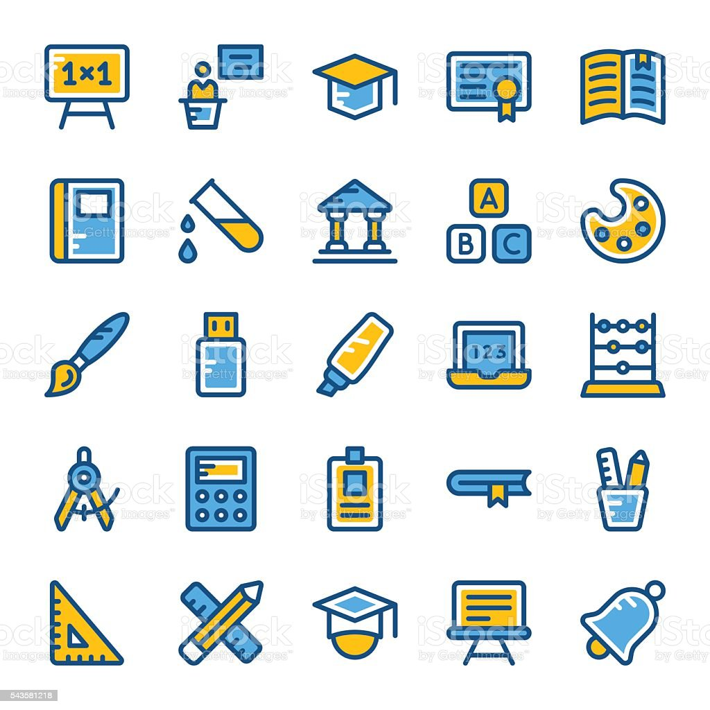 School and Education Vector Icons 1 vector art illustration