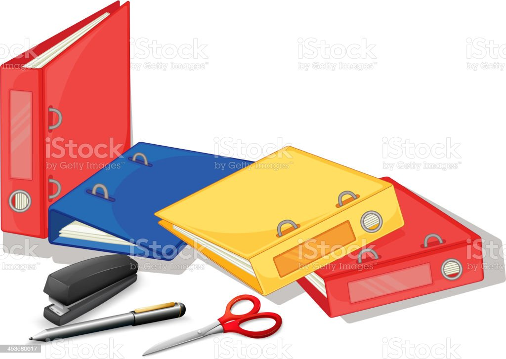 School and office supplies royalty-free stock vector art