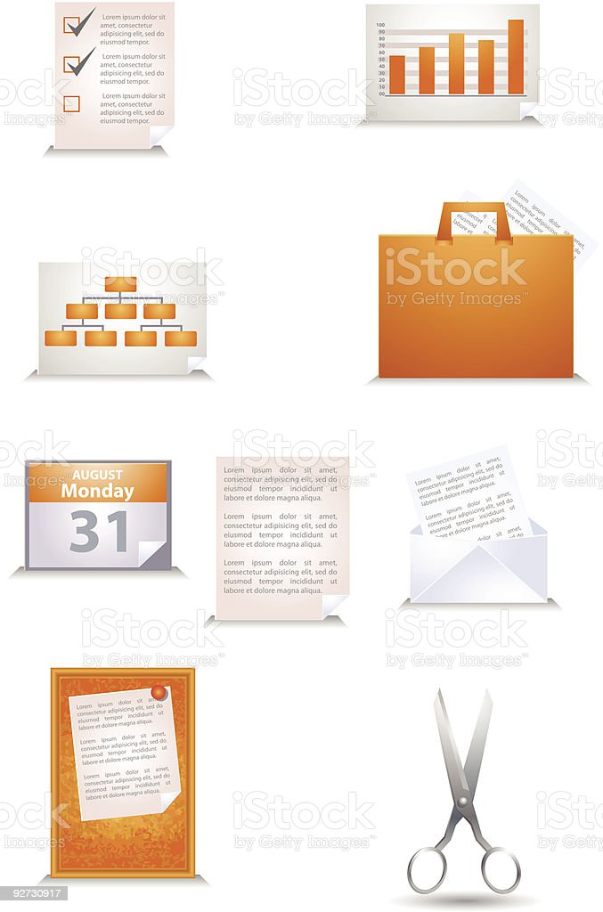 School and Office vector icons royalty-free stock vector art
