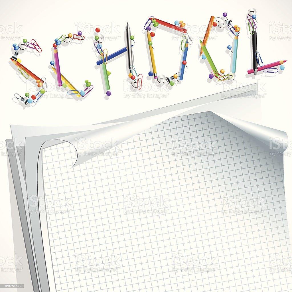 School background royalty-free stock vector art