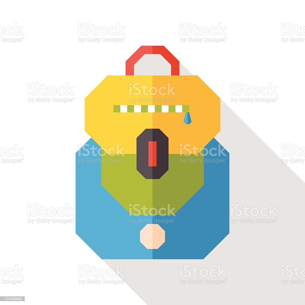 School bag diagram - School Bag Flat Icon With Long Shadow Royalty Free Stock Vector Art