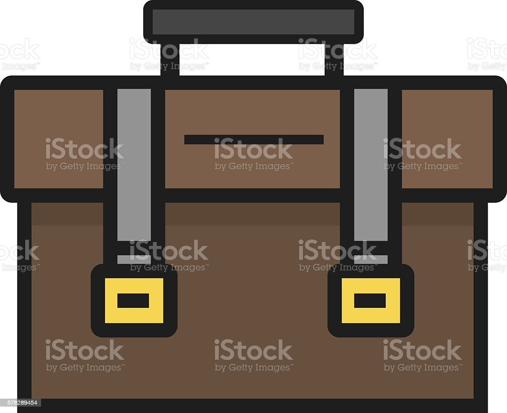 School bag diagram - School Bag Flat Style Design Vector Line Icon Royalty Free Stock