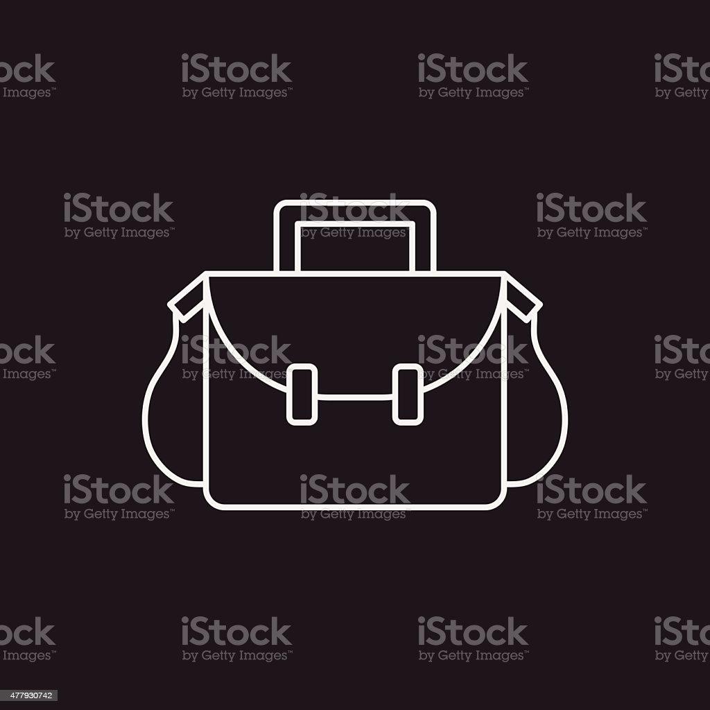 School bag diagram - School Bag Line Icon Royalty Free Stock Vector Art
