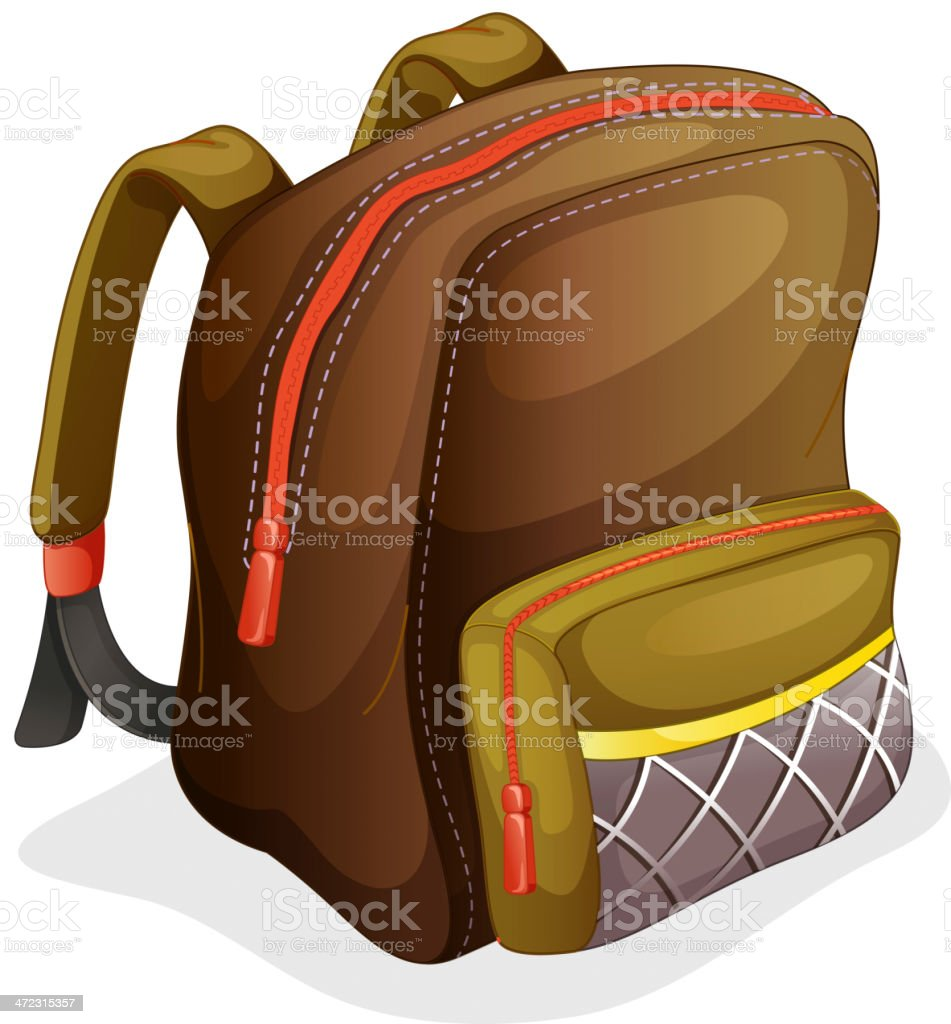 School bag royalty-free stock vector art