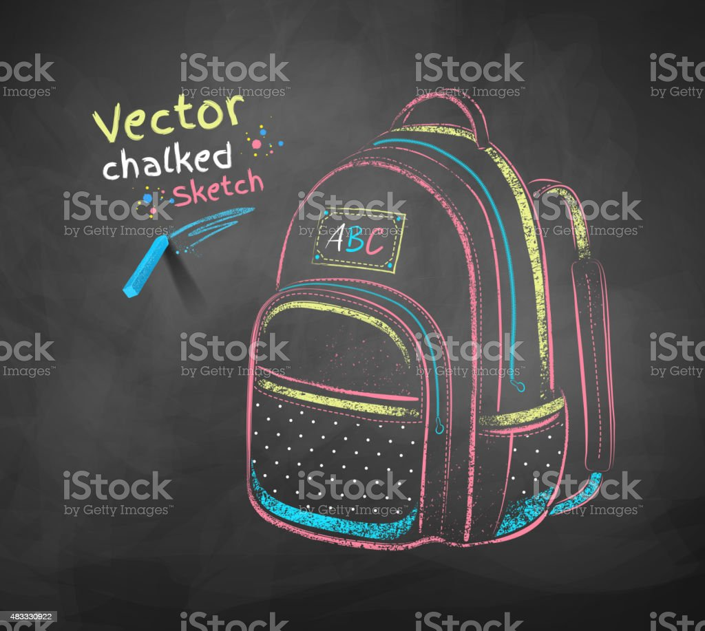 School bag. vector art illustration