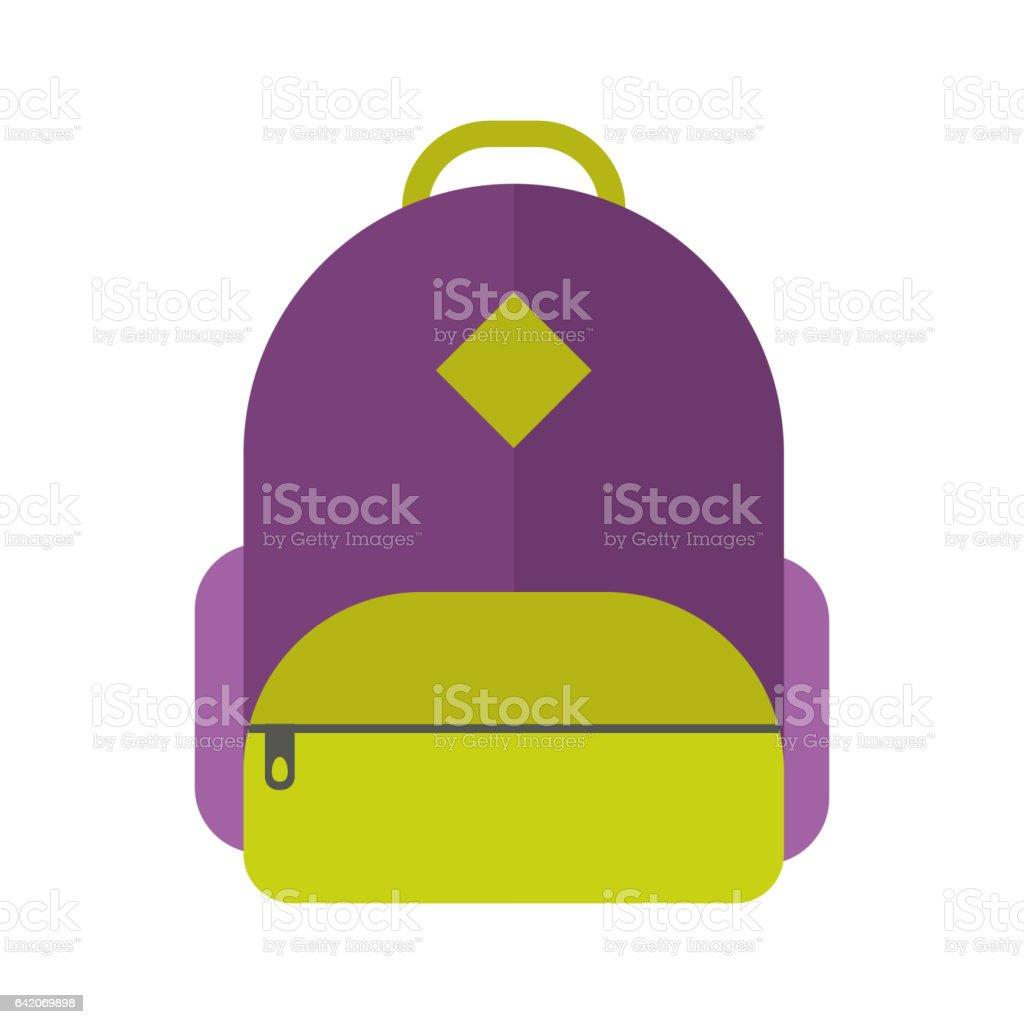 School bag diagram - School Bag Vector Illustration Isolated Royalty Free Stock Vector Art