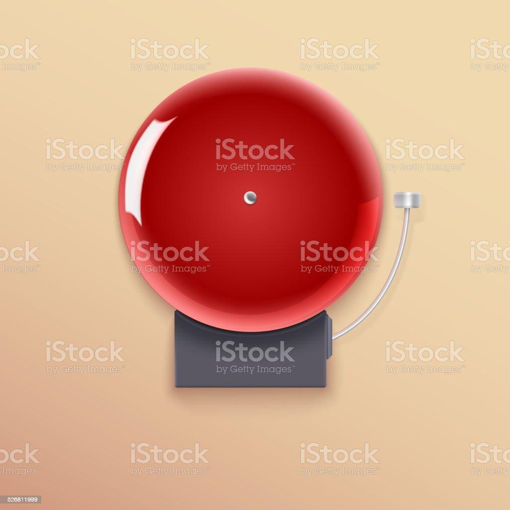 School bell. vector art illustration
