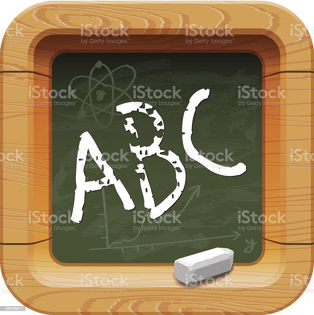 School blackboard icon royalty-free stock vector art