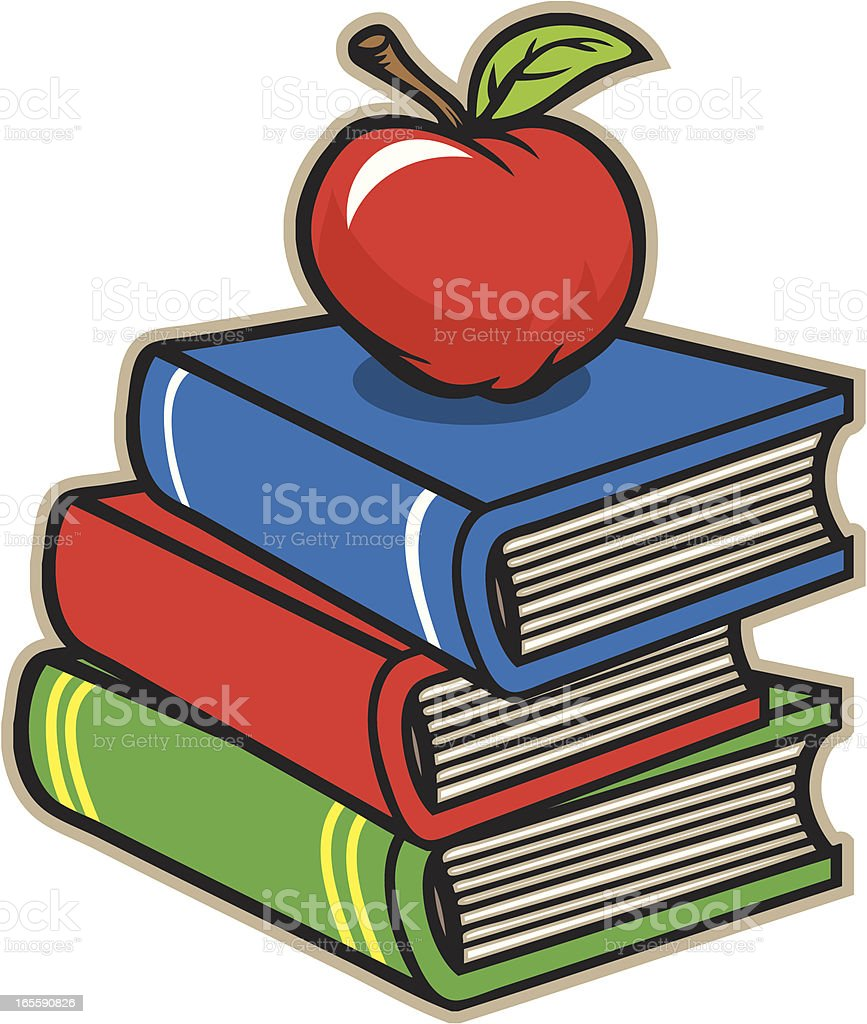 School Books Apple royalty-free stock vector art