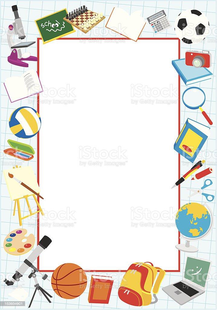 School border royalty-free stock vector art