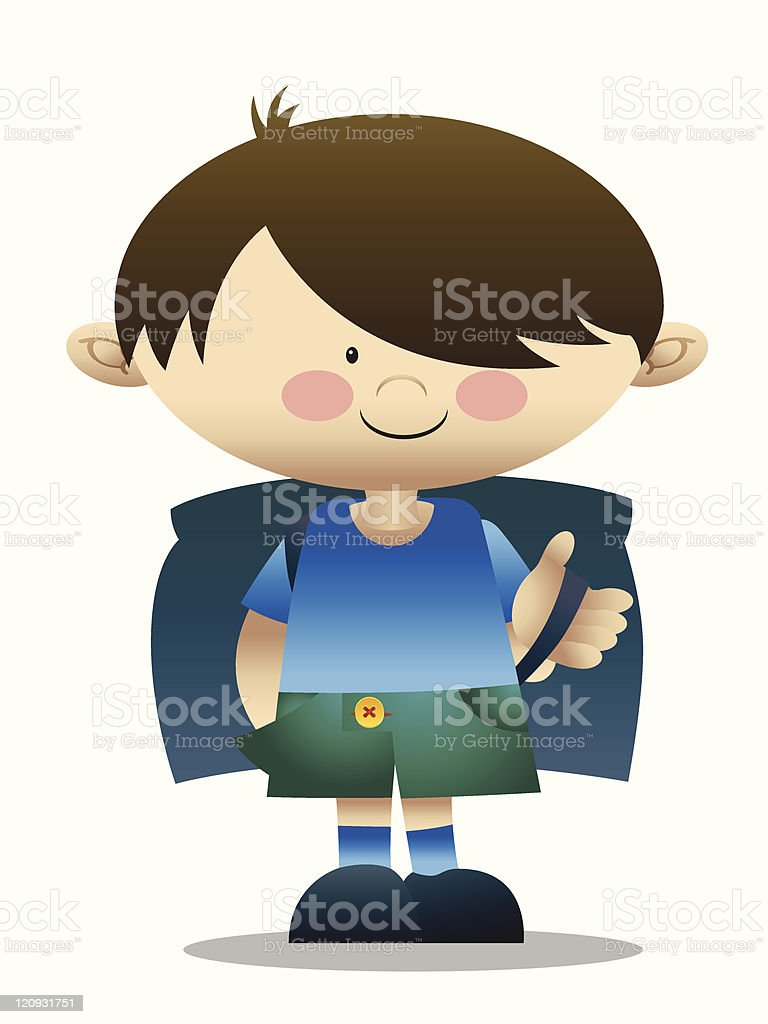School boy royalty-free stock vector art