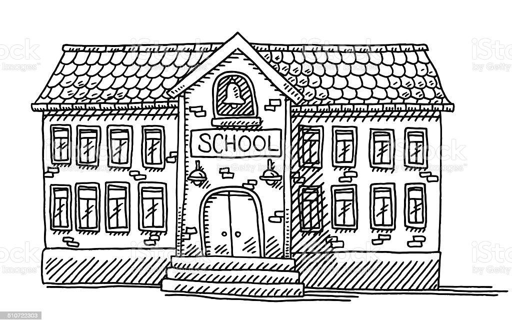 School Building Facade Drawing Gm510722303 46917392