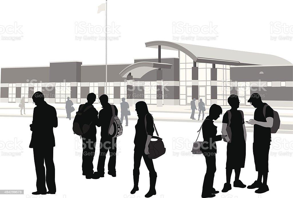 School Building royalty-free stock vector art