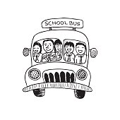 School bus. cartoonn.