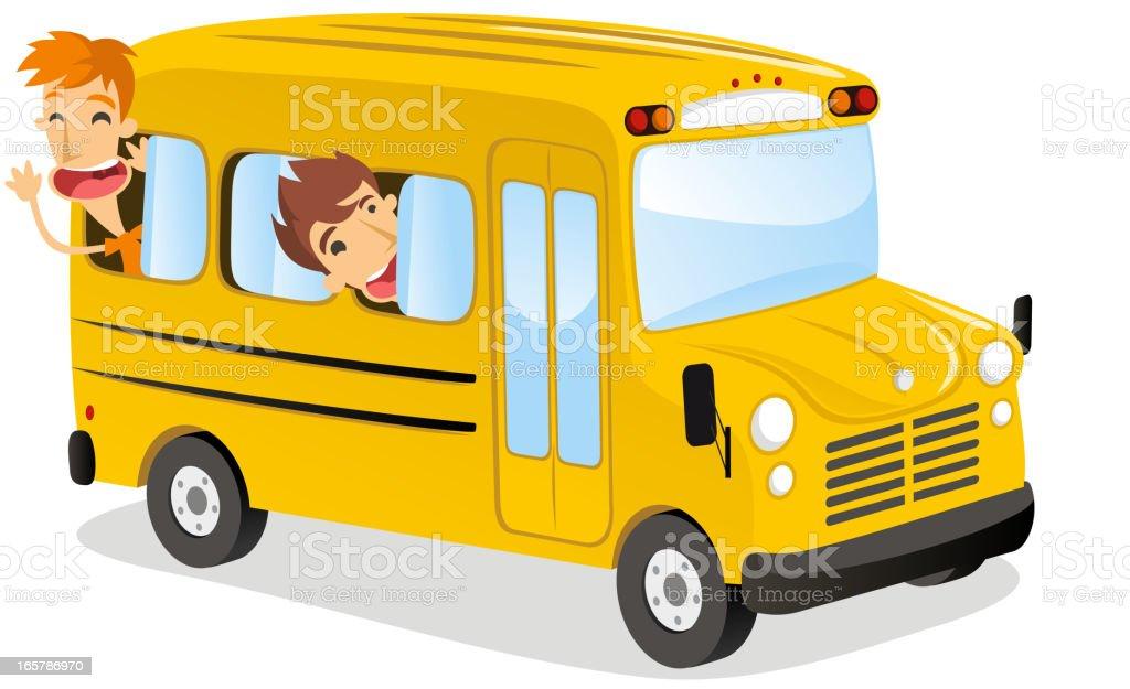 School bus fun royalty-free stock vector art
