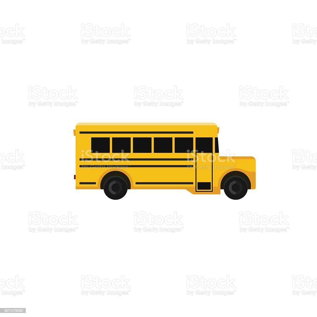 School bus icon. vector art illustration
