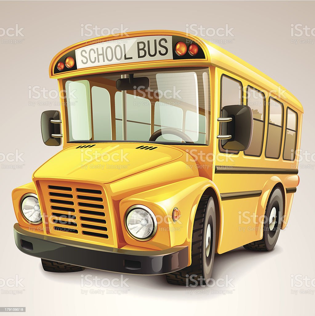 School bus vector illustration royalty-free stock vector art