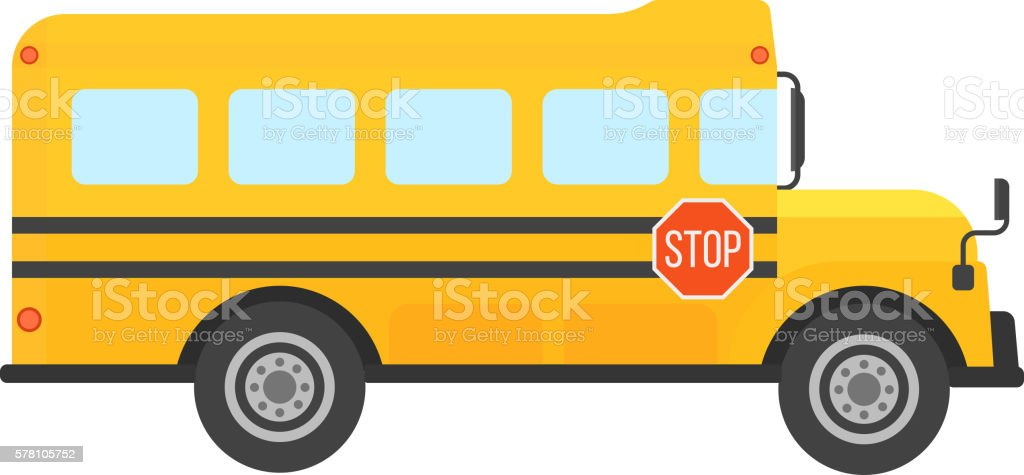 School bus vector isolated vector art illustration