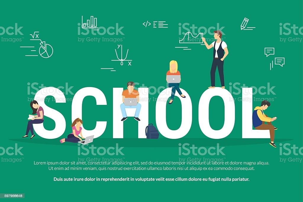 School concept illustration vector art illustration