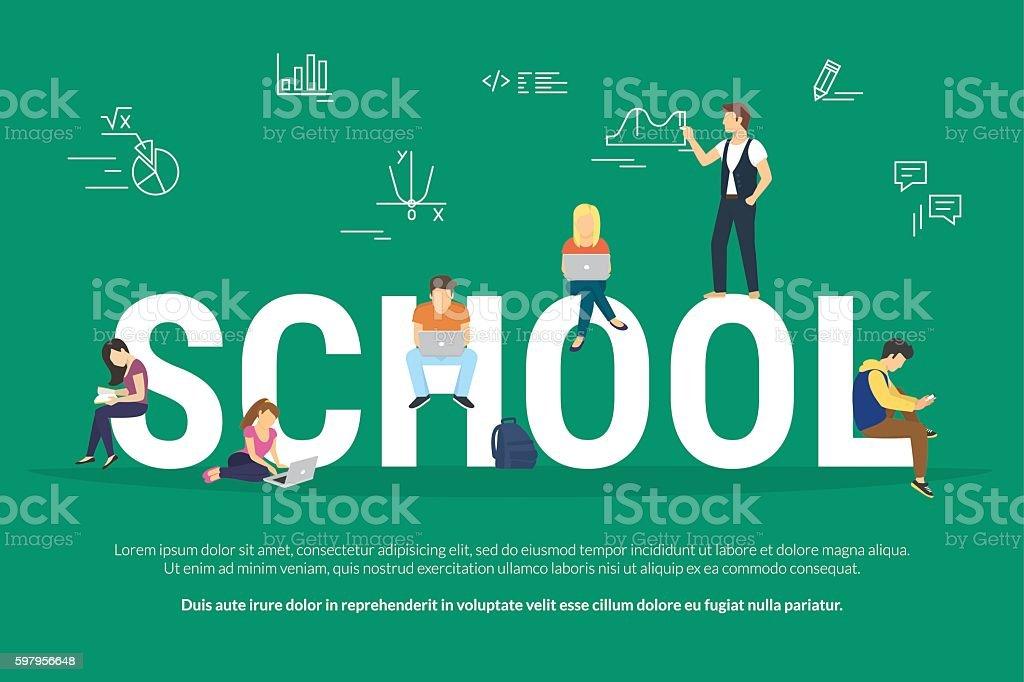 School concept illustration vector art illustration