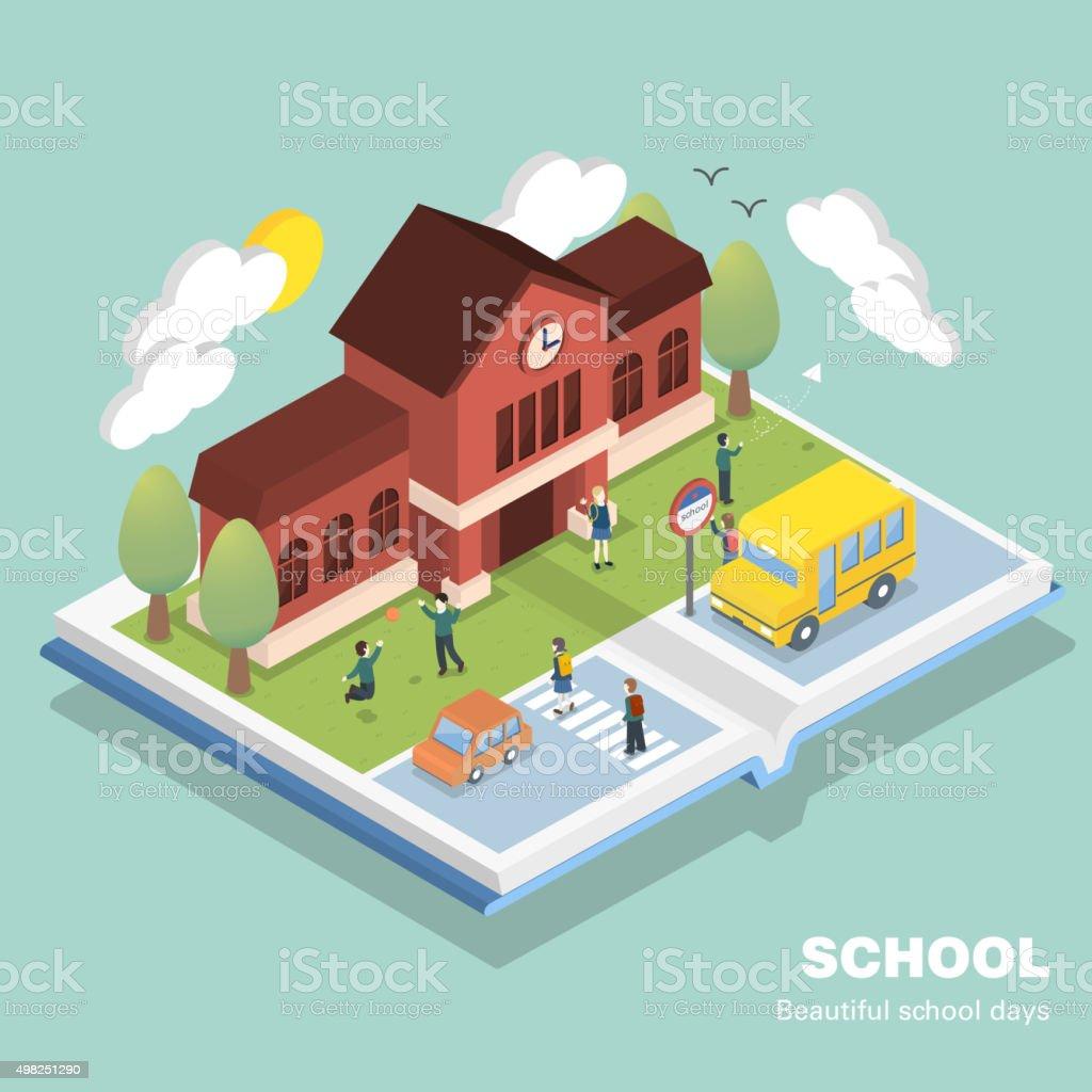 school concept vector art illustration