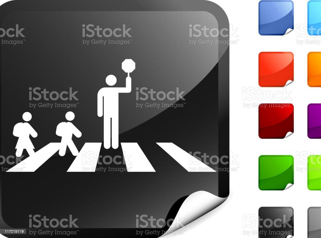 school crossing guard internet royalty free vector art royalty-free stock vector art