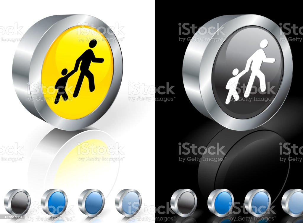 A school crosswalk 3D icon with many color options royalty-free stock vector art