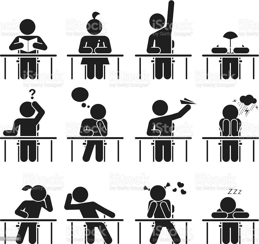 School days royalty-free stock vector art