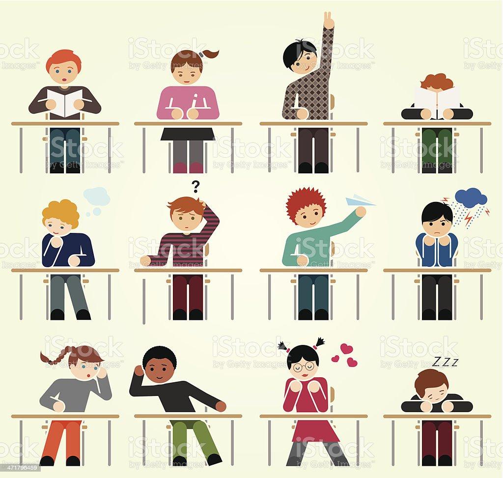 School days vector art illustration