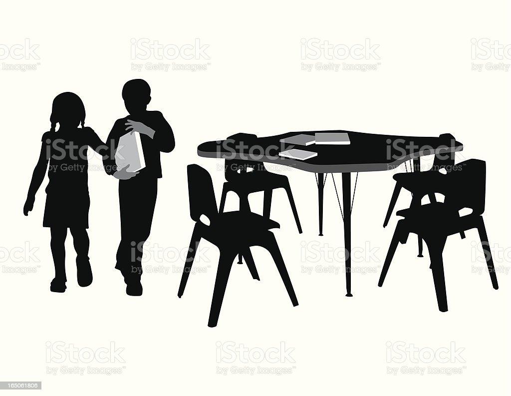 School Days Vector Silhouette royalty-free stock vector art