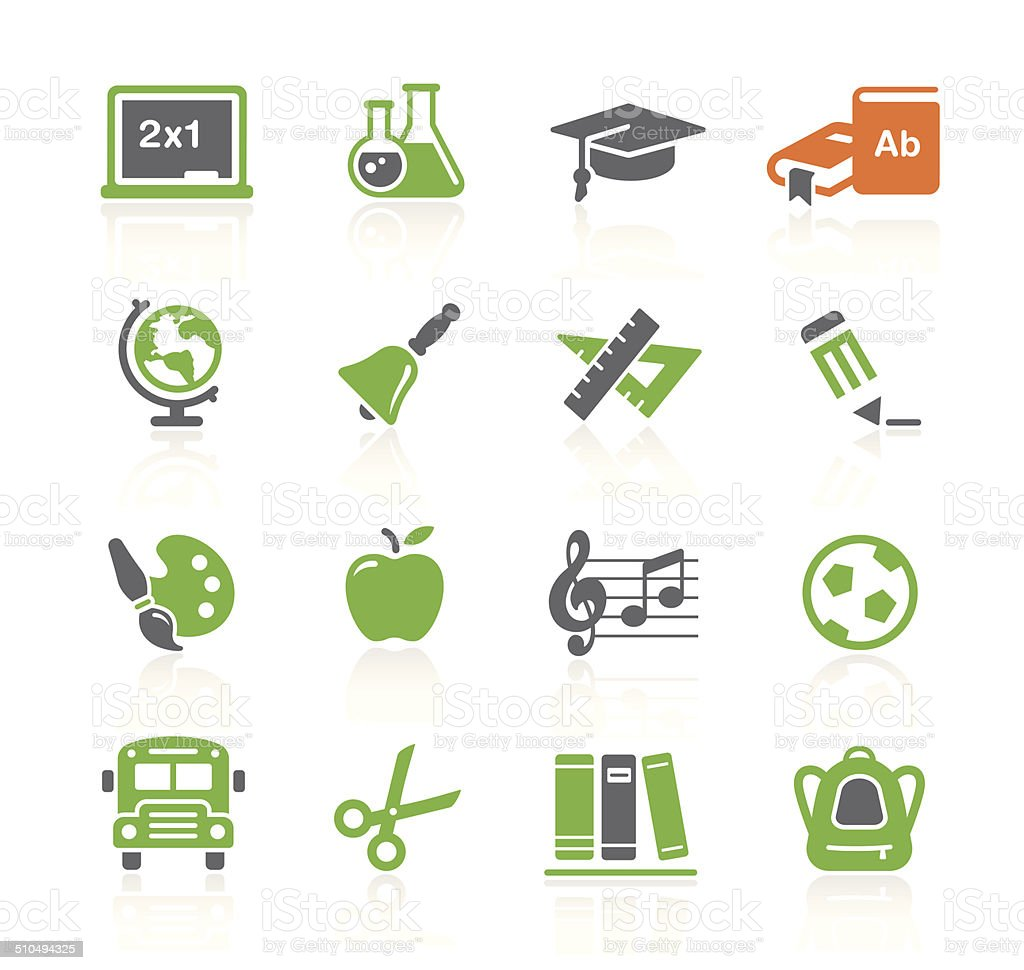 School & Education Icons | Spring Series vector art illustration