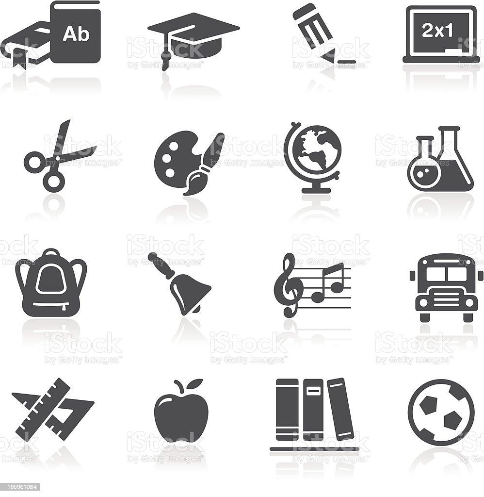 School & Education Icons royalty-free stock vector art