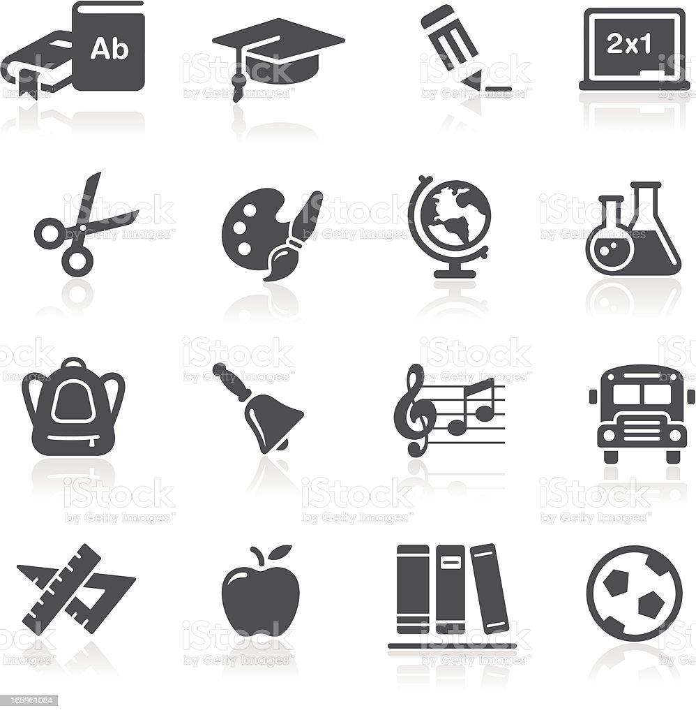 School & Education Icons vector art illustration