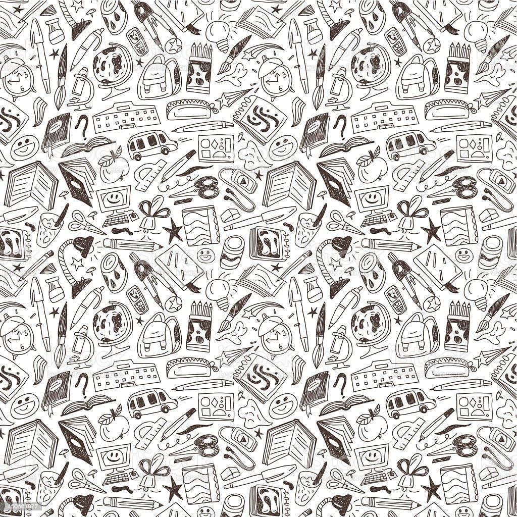 school education - seamless background royalty-free stock vector art