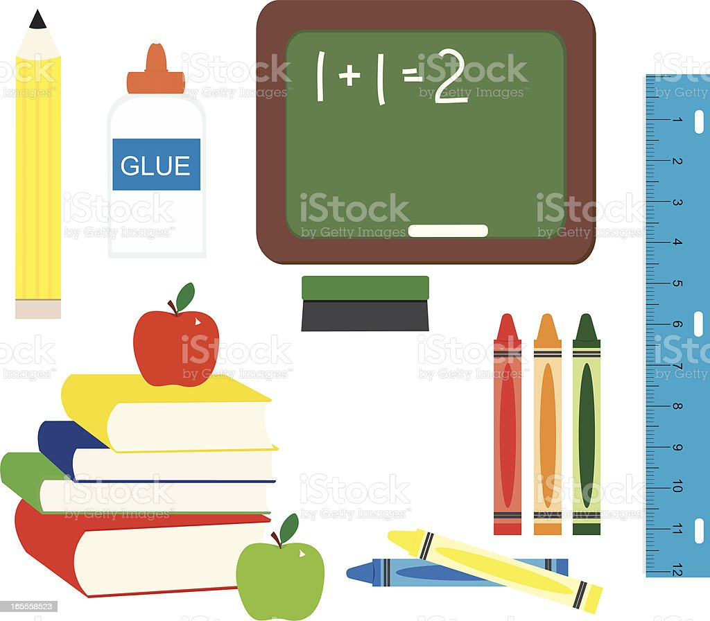 School Elements royalty-free stock vector art