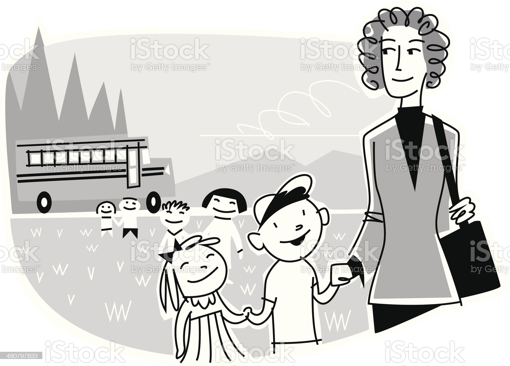School Field Trip royalty-free stock vector art