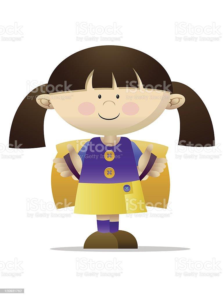 School girl royalty-free stock vector art