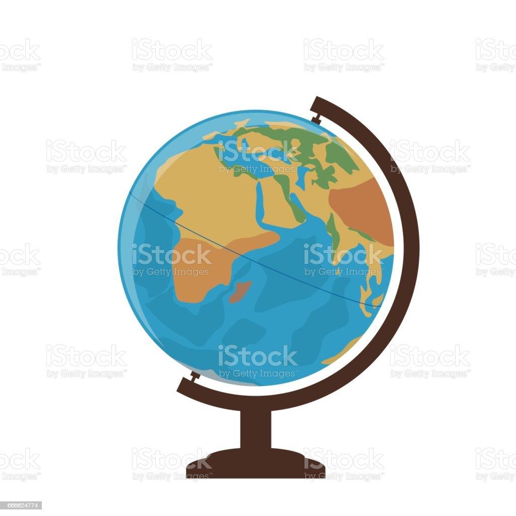 School globe on a white background. Vector Illustration vector art illustration