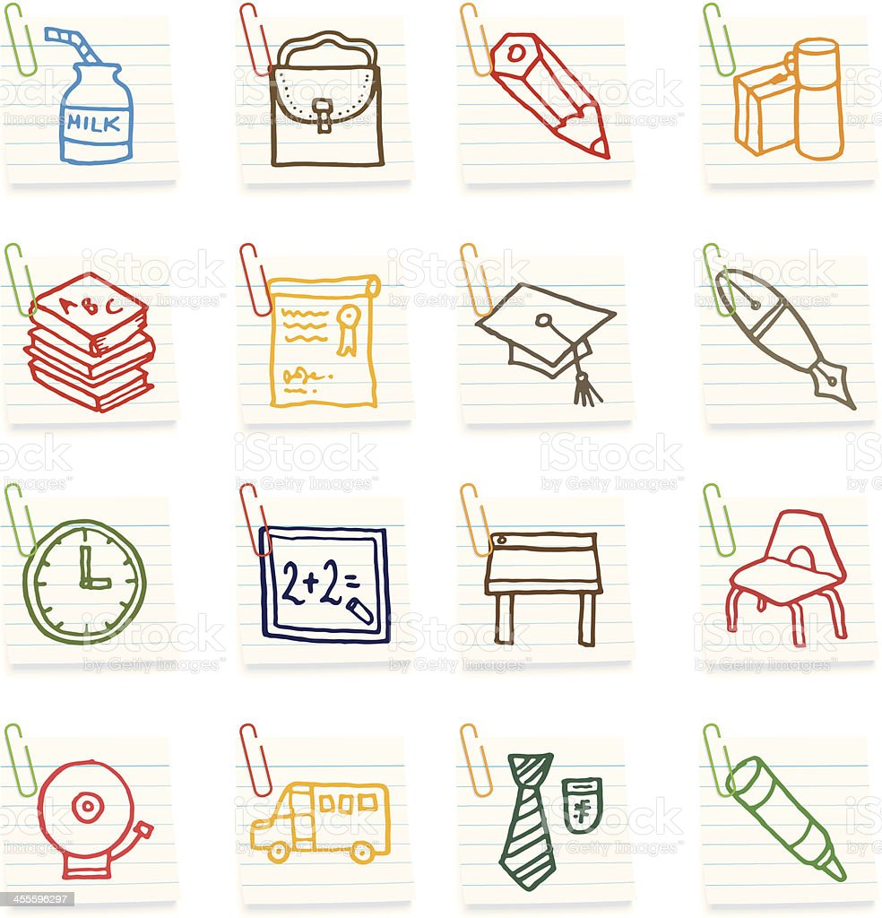 School icon notes royalty-free stock vector art
