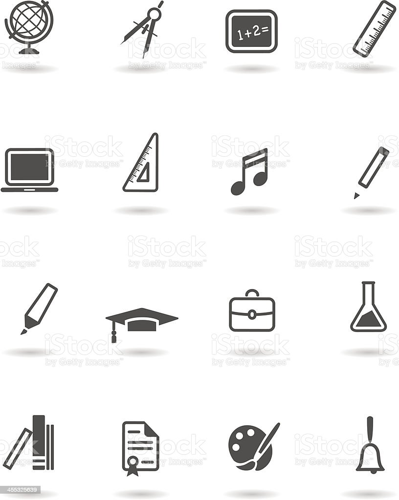 School icon set royalty-free stock vector art